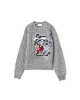 Kenzo - EMBROIDERED WOOL JUMPER