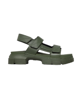 Ganni - RECYCLED RUBBER SANDAL